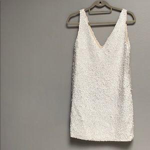 Calypso new matt white sequins mod dress